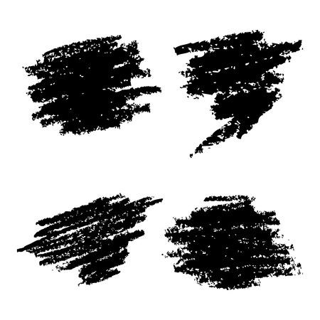 Set van hand getrokken Grunge-elementen Stock Illustratie