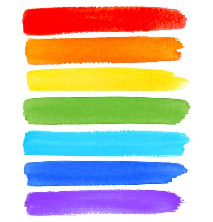 Regenbogen-Aquarellpinsel Abstriche Standard-Bild - 31518157