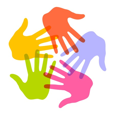 Main coloré icône Imprimer Banque d'images - 31671531