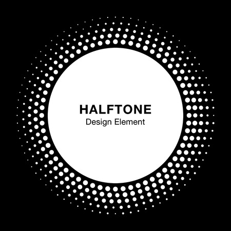 stamp: White Halftone Logo Design Element