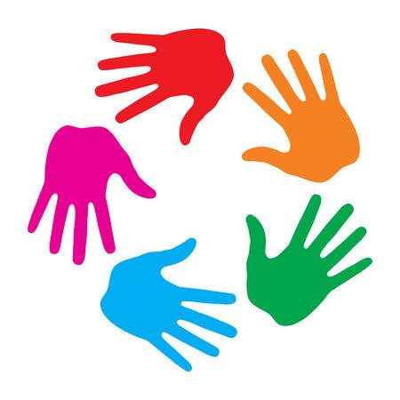Empreinte de main icône logo Banque d'images - 31672277