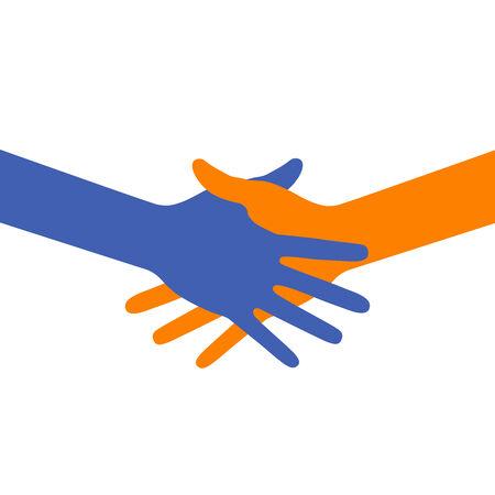 shake hand: Colorful icon hand shake Illustration