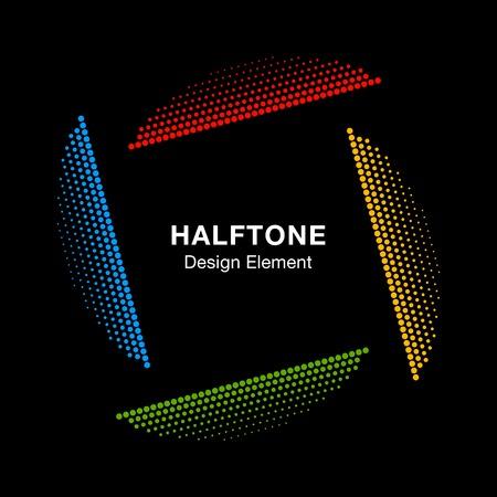 Abstracte Kleurrijke Halftone Design Element