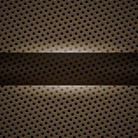 Dark yellow metal background Vector