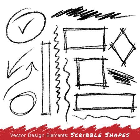 Scribble Vlekken Hand getrokken in potlood