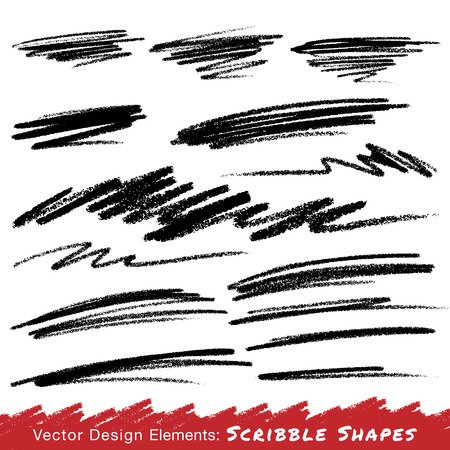 lijntekening: Scribble Smears Hand Drawn in Pencil