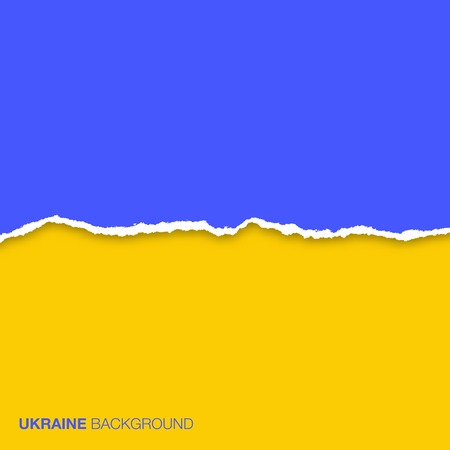 Abstract Background using Ukraine flag colors and lacerated  paper Ilustração
