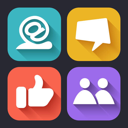 illust: Modern Flat icons for Web and Mobile Applications. Vector Illust Illustration