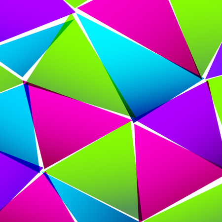 techno background: Abstract colorful paper triangle background Illustration