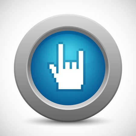 www arm: Pixel rock hand button