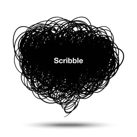 ink pen: Scribble black bubble