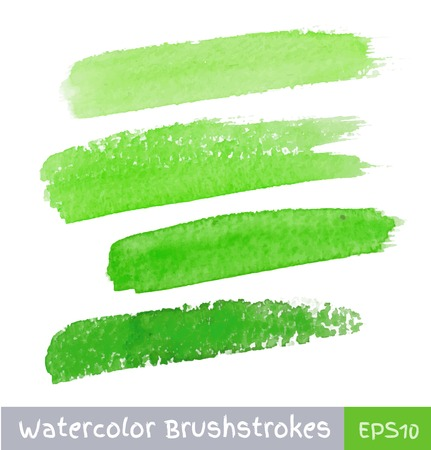 Green Watercolor Brush Strokes Imagens - 32429931