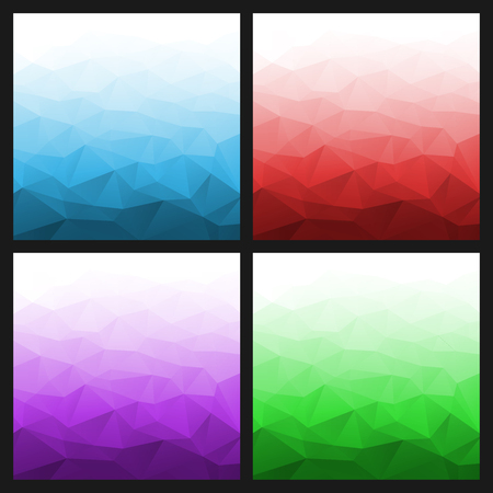 Set of Abstract Gradient Geometric Bright Backgrounds. Vector