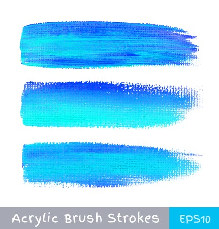 white paint: Colorful watercolor brush strokes on canvas