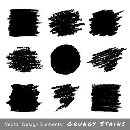 marker pen: Set of Hand Drawn Grunge backgrounds. Illustration