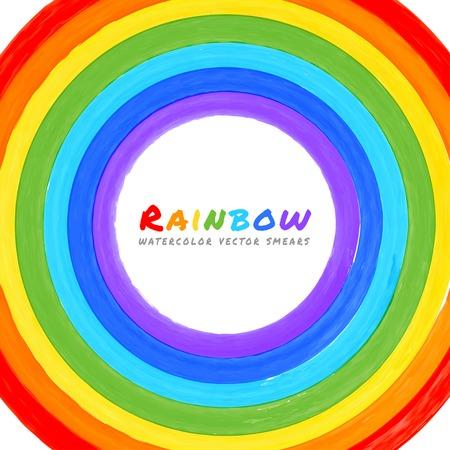 bandera gay: Arco iris de la acuarela círculo