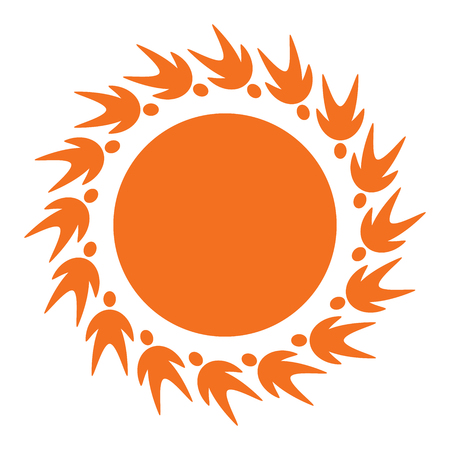 sun icon from people pictogram Vector