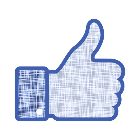 like button: canvas thumb up