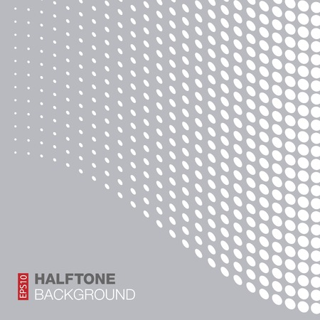 arcs: Abstract Gray - White Halftone Background Illustration