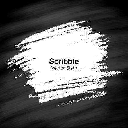 Scribble Hand gezeichnet Stain in Kreide auf Tafel Hintergrund Standard-Bild - 33003583