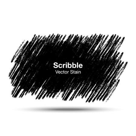 garabatos: Scribble mancha Mano dibujado en lápiz