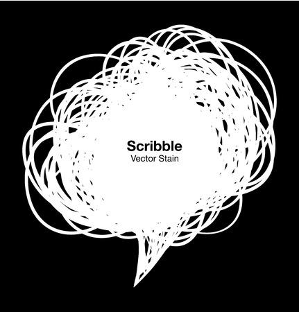 arcs: Scribble white bubble
