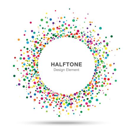 Colorful Abstract Halbton Logo Design Element Standard-Bild - 33431017
