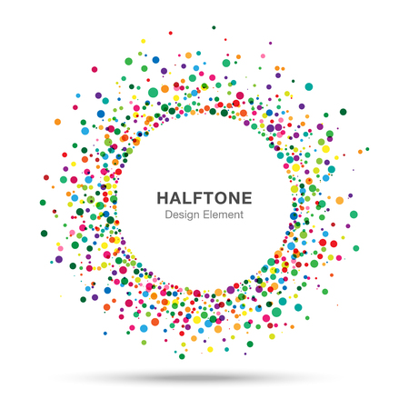 Colorful Abstract Halftone Logo Design Element Vettoriali