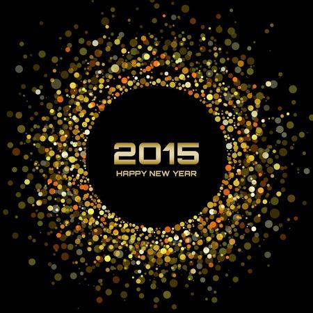 glisten: Gold Bright New Year 2015 Background