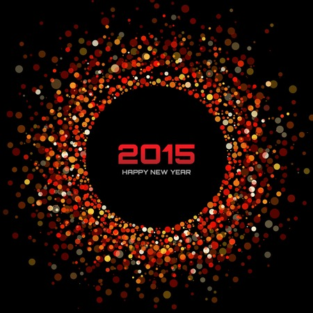 Red Bright New Year 2015 Background