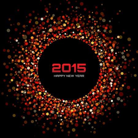 brillante: Rosso brillante nuovo anno 2015 di sfondo Vettoriali