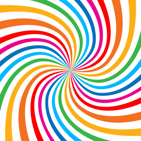 Colorful Bright Rainbow Spiral Background.