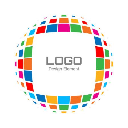 printing logo: Abstract Bright Rainbow Halftone Logo