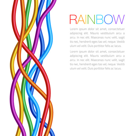 holliday: Rainbow Twisted Bright Vibrant Wares