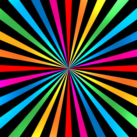 Colorful Bright Rainbow Spiral Background. Vector