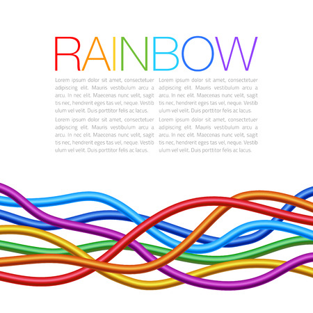 thick: Rainbow Twisted Bright Vibrant Wares