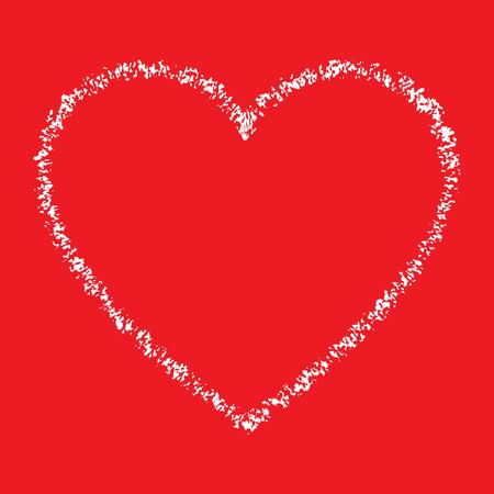 love abstract: White Hand Drawn Thin Contour Grunge Heart
