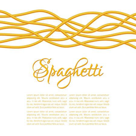 twisted: Realistic Twisted Spaghetti Pasta, horizontal composition