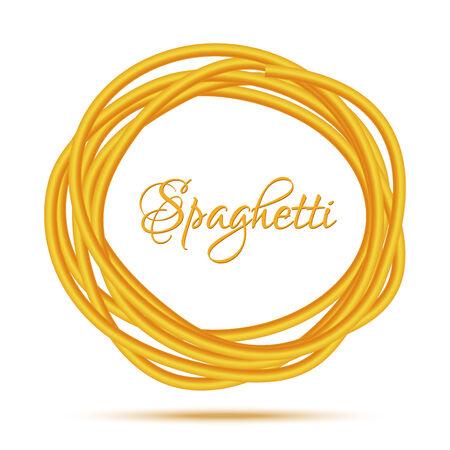 pastas: Realista Marco Twisted Spaghetti Pasta C�rculo Vectores