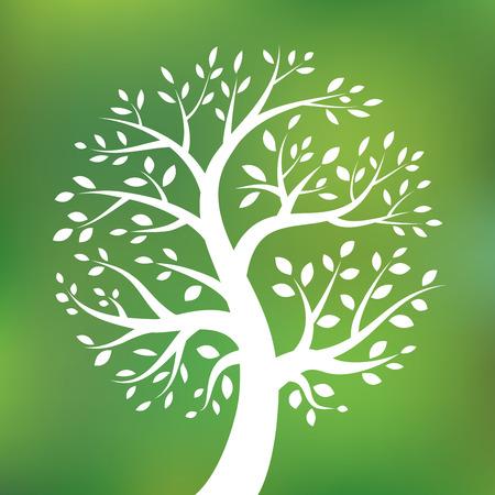 Orgánica logo árbol verde, eco emblema, símbolo de la ecología natural, Foto de archivo - 35641806