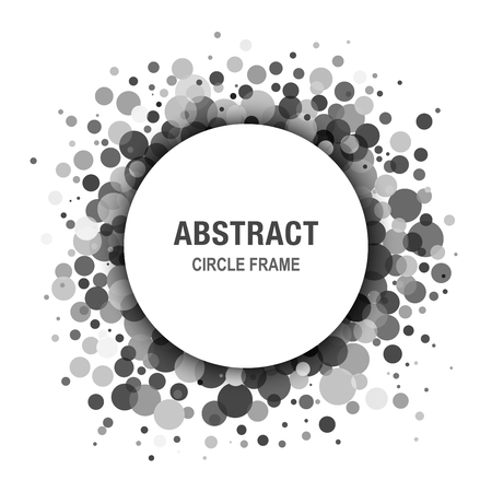Gray  Abstract Circle Frame Design Element