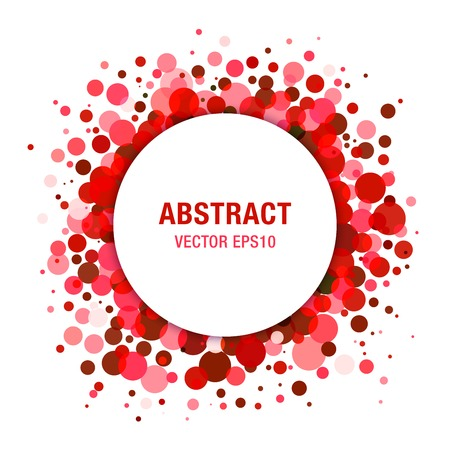 pharm: Red Bright  Abstract Circle Frame Design Element Illustration