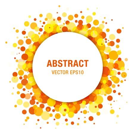 Orange - Yellow Bright Spring Abstract Circle Frame Design Element 일러스트