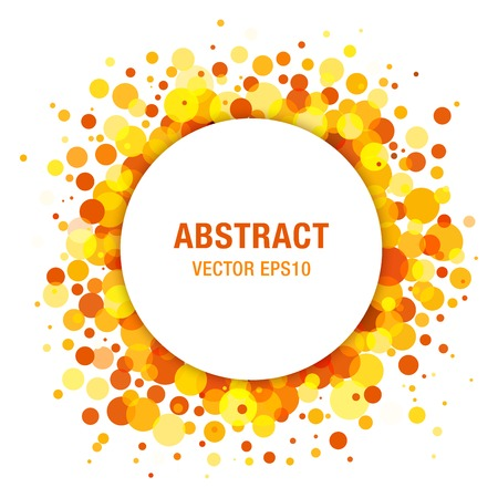 Orange - Yellow Bright Spring Abstract Circle Frame Design Element Vettoriali