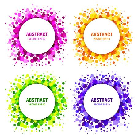champú: Conjunto de brillantes Círculos abstractos Frames Elementos de diseño, cosméticos, jabón, champú, perfume, médico, fondo de la etiqueta