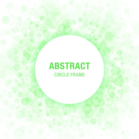 Green Abstract Circle Frame Design Element, cosmetics, soap, shampoo, perfume, label background