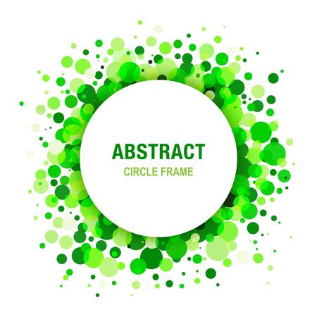 pharm: Green Bright  Abstract Circle Frame Design Element