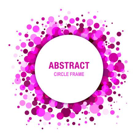 Lila Helle abstrakte Kreis-Rahmen-Design-Element Standard-Bild - 38378949