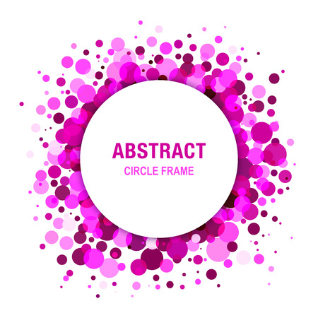 Purple Bright  Abstract Circle Frame Design Element