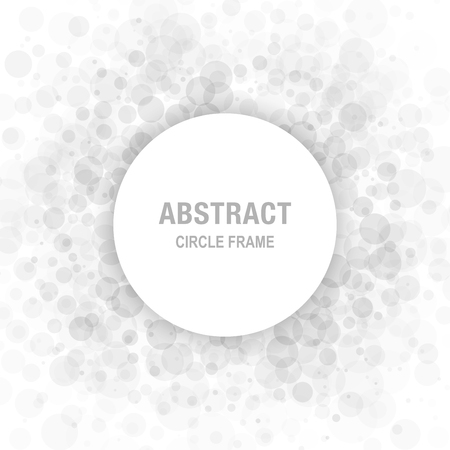 Gray Abstract Circle Frame Design Element, cosmetics, perfume, label background Illustration
